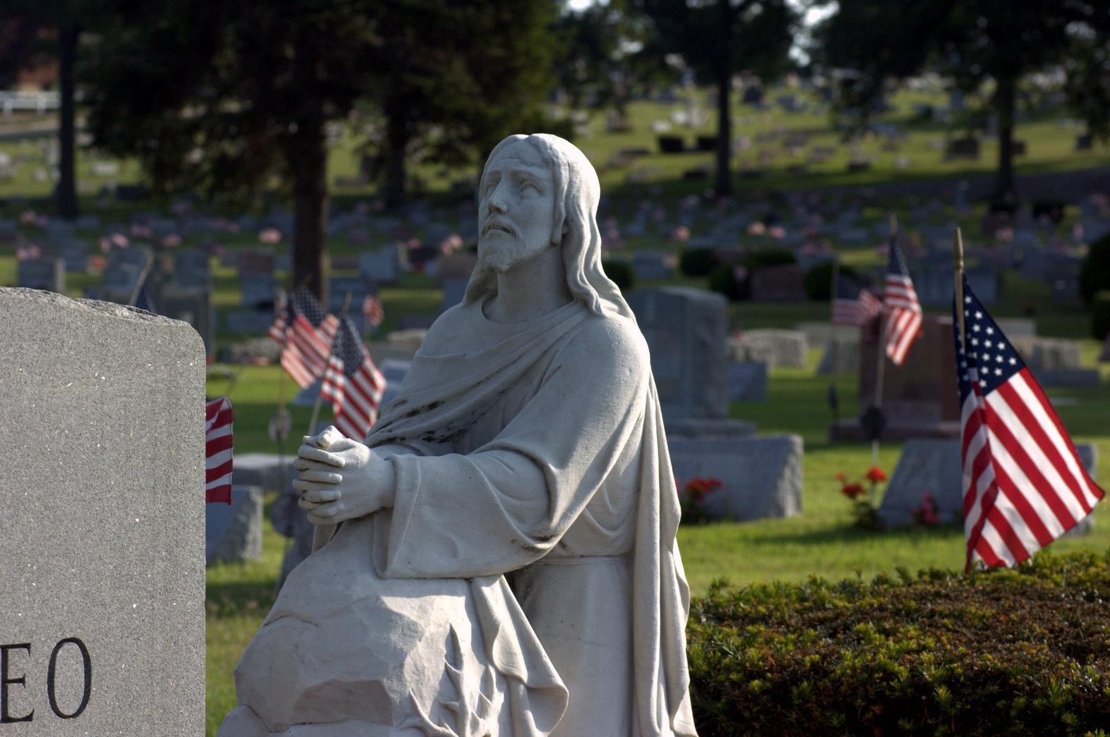 Monument of Jesus praying