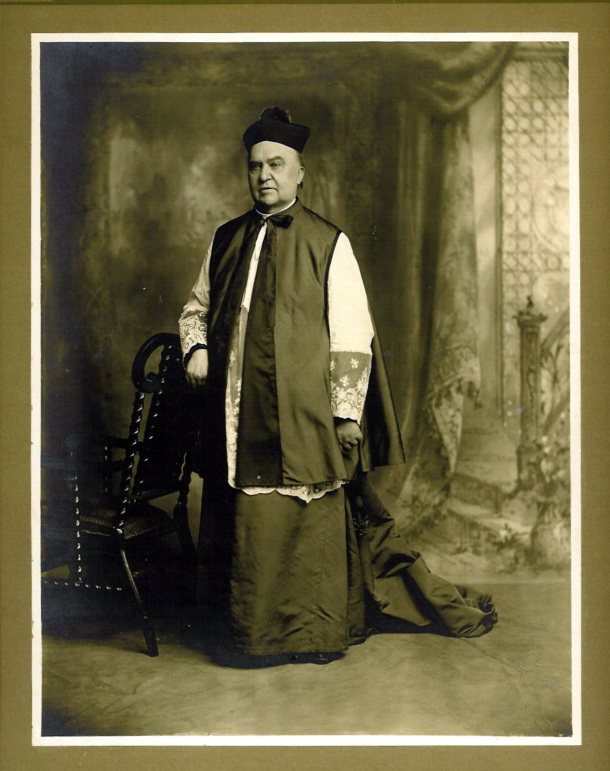 Monsignor George Bornemann black and white photo